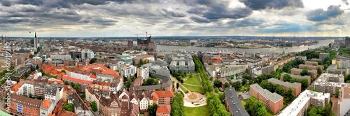 canvas print picture Hamburg Panorama