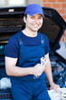 Smiling car mechanic