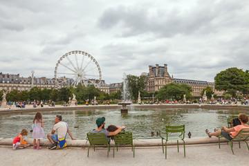 Tuileries garden.