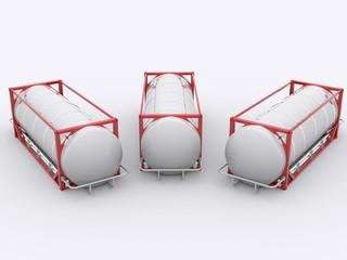Drei Tank Container