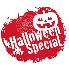 Halloween Special Stamp Grunge Red