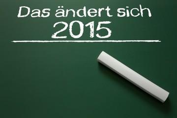 Das ändert sich 2015 !