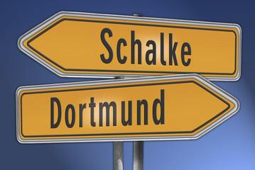 Wegweiser Dortmund Schalke