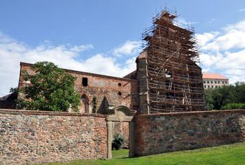 ruins of a monastery,Dolni Kounice, Moravia, Czech Republic