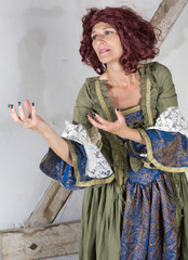 woman in historical costume
