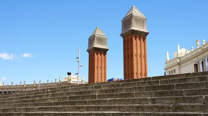 Torres Venecianas en la Plaza de España, Barcelona