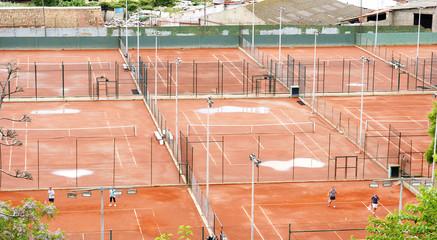 Pistas de tenis, Barcelona