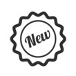 Vector New Badge Black Icon