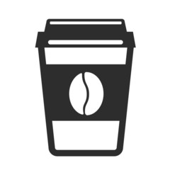 Vector Coffee Cup Black Icon