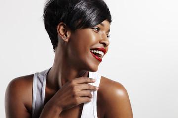 black woman with idal skin