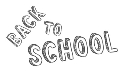 vector handwritten back to school sign