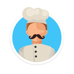 Vector Flat Chef Round Icon