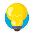 Vector Bulb Flat Round Icon