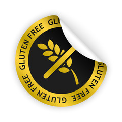vector gluten free bent sticker