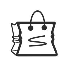 Vector Bag Black Icon