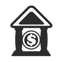 Vector Bank Black Icon