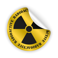 vector radioactive bent sticker