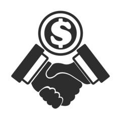 Vector business concept Money Deal black icon