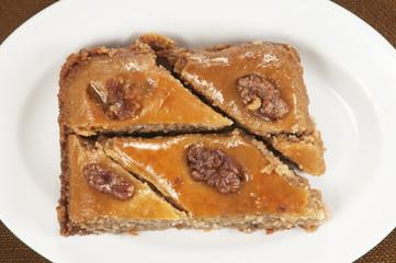 Baklava with walnut