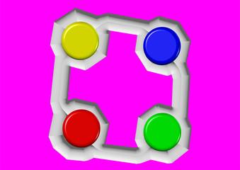 renkli butonlar