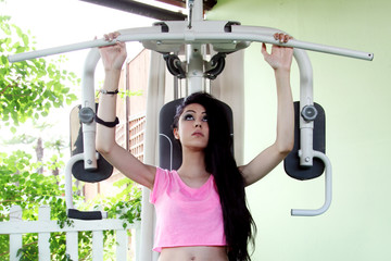 Beautiful girl doing fitness