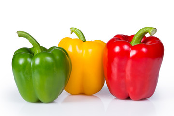 Three bell or sweet peppers