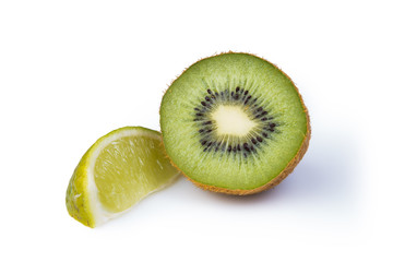 Kiwifruit and lime segment