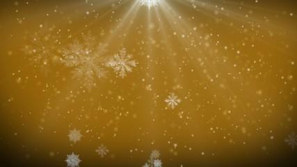 4K VID - falling snowflakes - ray-traced