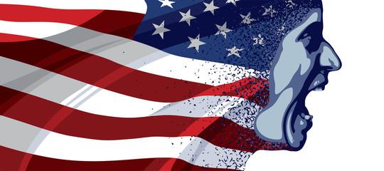 Angry face USA