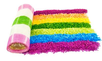 Spa salt color rainbow