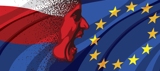 Angry face of Russia to Europe