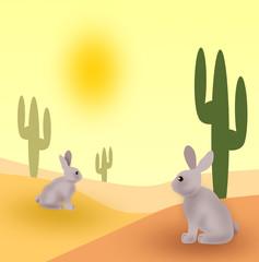 Rabbits in the Desert