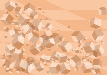 abstract background with pink cubes