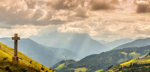 Col de la Colombière dans les Alpes Savoyardes
