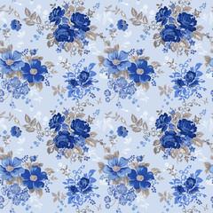 Vintage Floral Background - seamless pattern for design