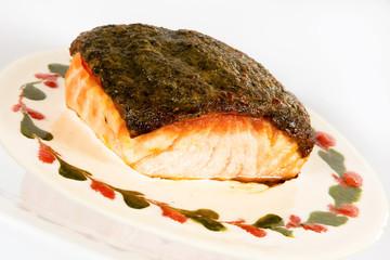 Salmon fillet with crispy crust