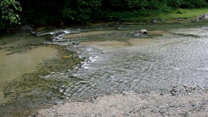Rain, shoal of river Jimenoa,  Dominican Republic