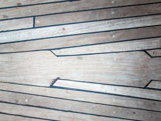 aged teak deck