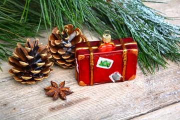 Weihnachtsmotiv - Koffer