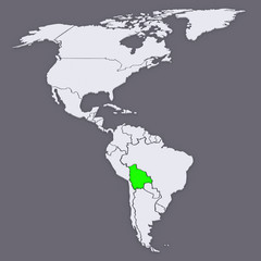 Map of worlds. Bolivia.