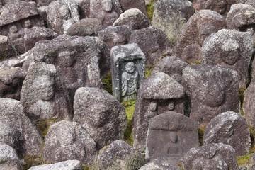 Kyoto, Japan - jizo statues at Daitoku-ji temple