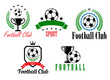 Football and soccer symbols or emblems