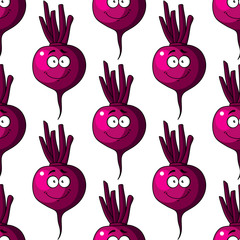 Beetroot seamless pattern