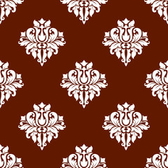 White colored floral seamless pattern