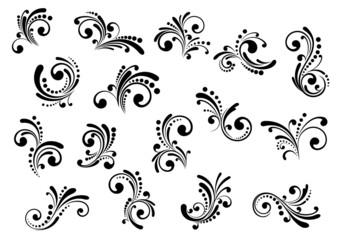 Floral motifs and design elements