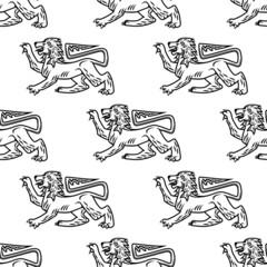 Great heraldic lion seamless