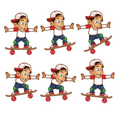 Skater Boy Jumping High Animation Sprite