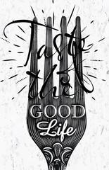 Poster vintage fork