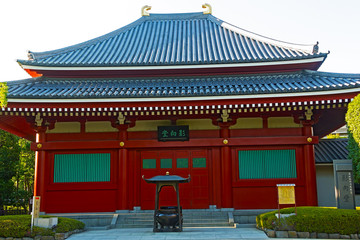 Small pavilion in Senso-ji Temple in Asakusa Tokyo, Japan