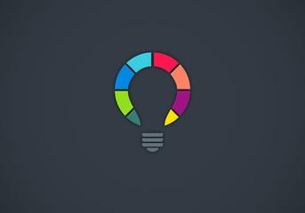 idea multicolor vector logo
